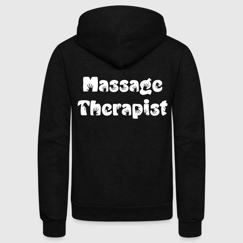 Massage Therapist Zip Hoodies/Jackets - Unisex Fleece Zip Hoodie by American Apparel