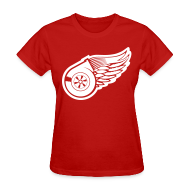 Women's T-Shirts ~ Women's T-Shirt ~ Red Wings Turbo Womens Tee
