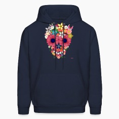 skull flowers by wam Hoodies