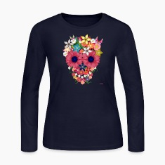 skull flowers by wam Long Sleeve Shirts