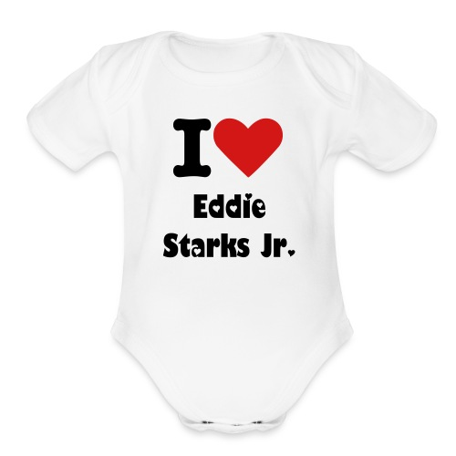 Infants' I Love Eddie Starks Jr. Graphic   - Organic Short Sleeve Baby Bodysuit