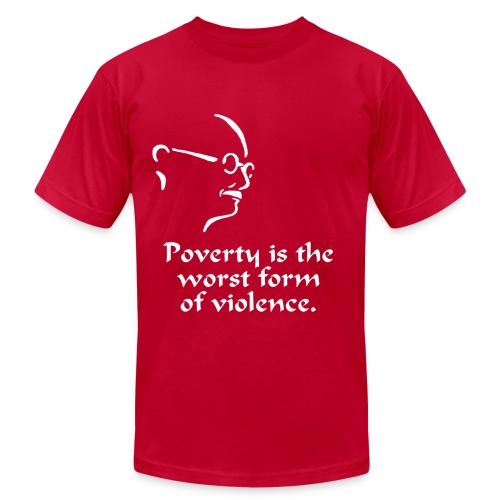 Gandhi – Poverty - Men's Fine Jersey T-Shirt