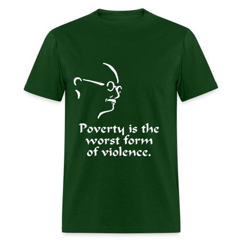 Gandhi – Poverty - Men's T-Shirt