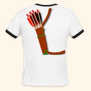 quiver archery design by patjila2 - Men's Ringer T-Shirt