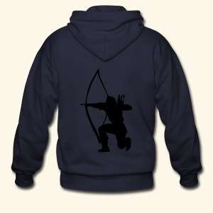 archer longbow medieval design patjila2 - Men's Zip Hoodie