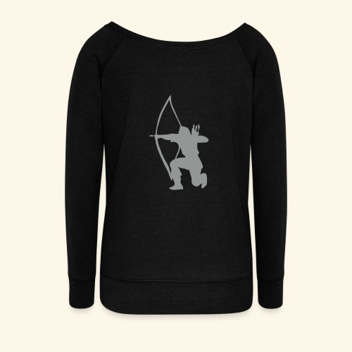 archer longbow medieval design patjila2 - Women's Wideneck Sweatshirt