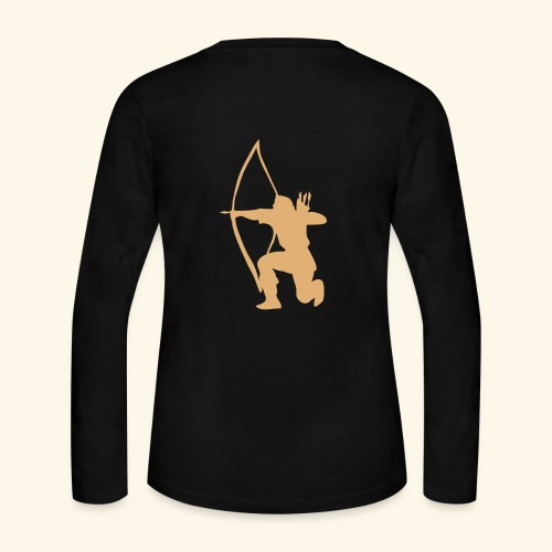 archer longbow medieval design patjila2 - Women's Long Sleeve Jersey T-Shirt
