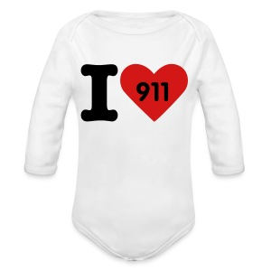 I love 911 - Long Sleeve Baby Bodysuit