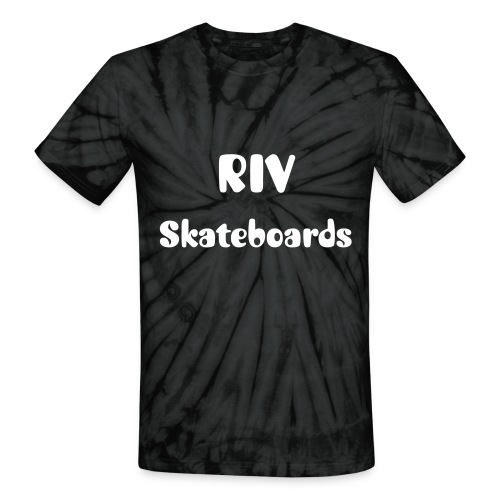 RIV Skateboards Spider Tie-Die T-Shirt with logo  - Unisex Tie Dye T-Shirt