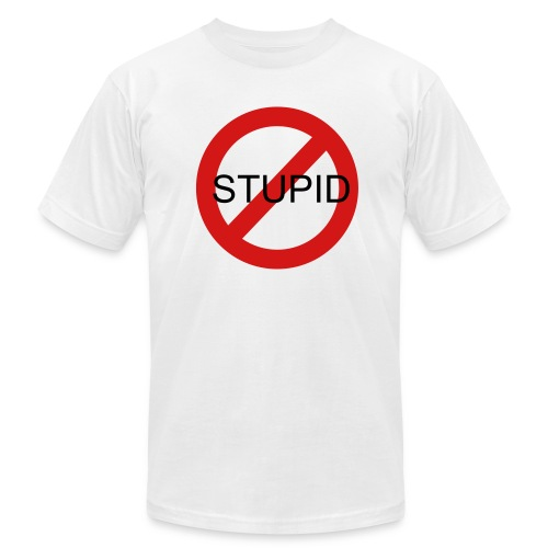 Say No to Stupid - Men's Fine Jersey T-Shirt