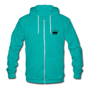 Royal insignia , design.  Fleece Zip hoodie . - Unisex Fleece Zip Hoodie by American Apparel