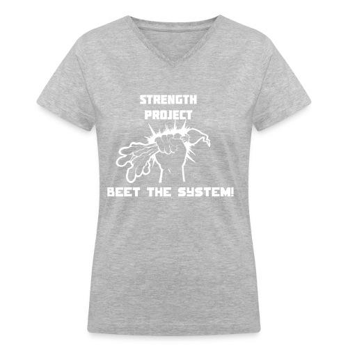 Strength Project Womens - Women's V-Neck T-Shirt