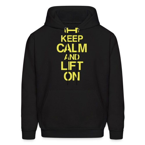 Keep calm and lift on | Mens  Hoodie - Men's Hoodie