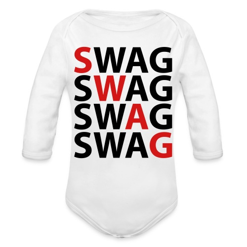 Swag Baby Long Sleeve One Piece - Organic Long Sleeve Baby Bodysuit