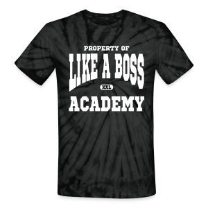 Property of Like A Boss Vector Graphic T-Shirt - Unisex Tie Dye T-Shirt
