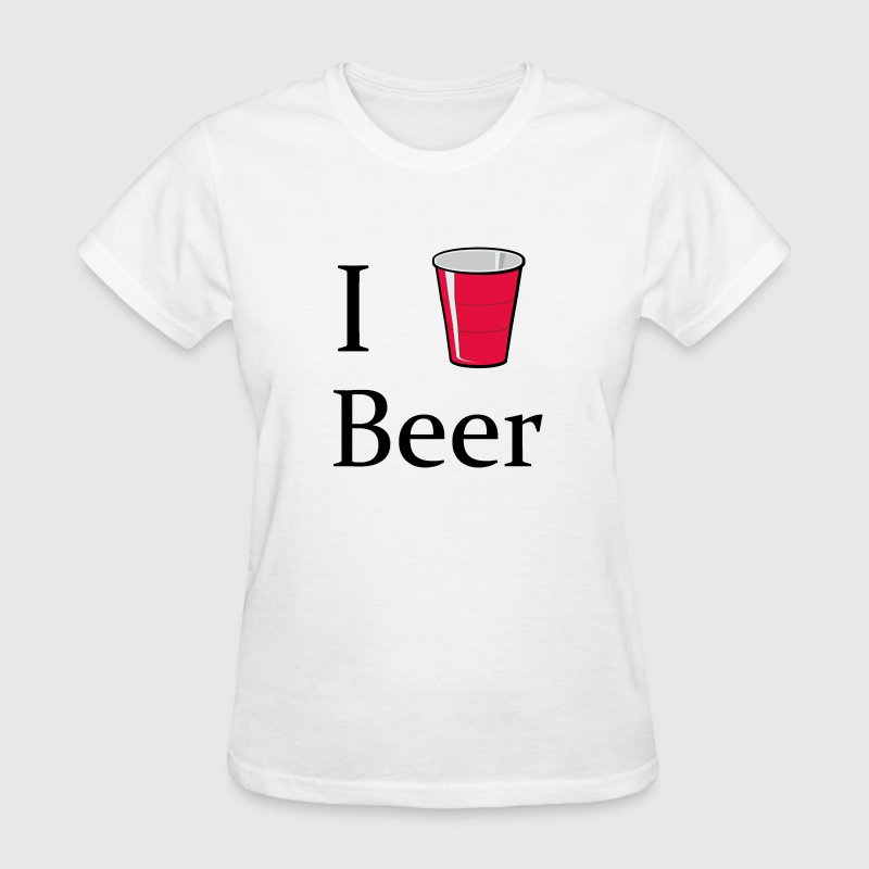 I love beer i heart red solo cup shirt t shirt spreadshirt for I love beer t shirt