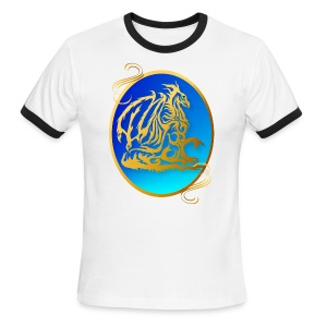 Gold Dragon 3 - Men's Ringer T-Shirt