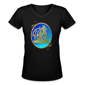 Gold Dragon 3 - Women's V-Neck T-Shirt