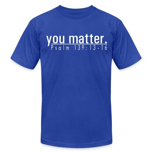 Men's American Apparel T-Shirt - you matter. - Blue/White - Men's Fine Jersey T-Shirt
