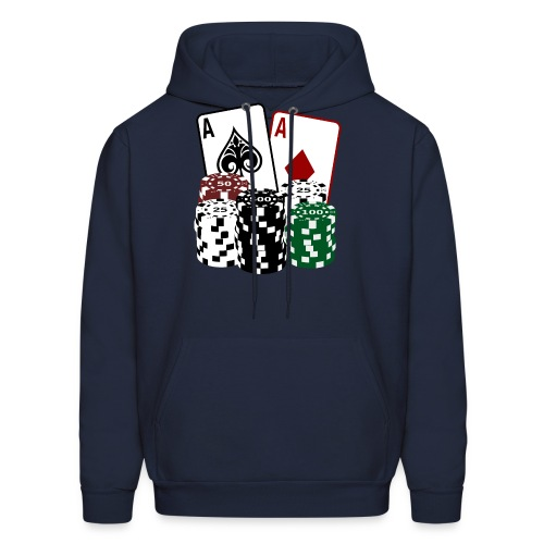 Poker Cards with Chips - Men's Hoodie
