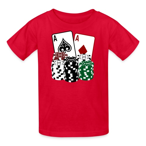 Poker Cards with Chips - Kids' T-Shirt