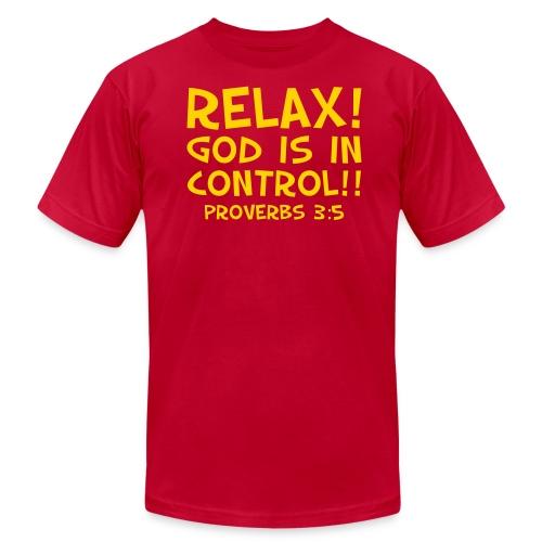 Men's T-Shirt by American Apparel Relax! Goldenrod - Men's  Jersey T-Shirt