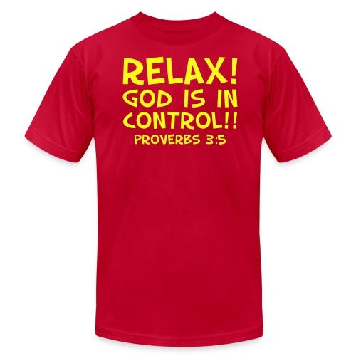 Men's T-Shirt by American Apparel Relax! Yellow - Men's Fine Jersey T-Shirt