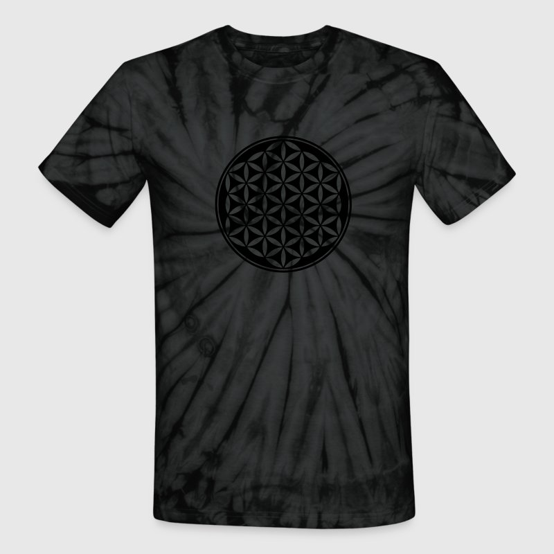 Flower of Life - Vector- Sacred Geometry, energy symbol, healing symbol,  T-Shirts - Unisex Tie Dye T-Shirt