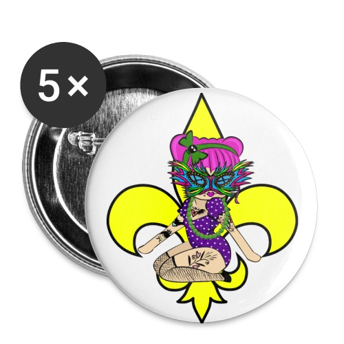 Louisiana Buttons - Buttons large 2.2'' (5-pack)