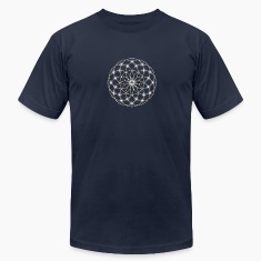 Flower of Life - Seed of Life - Tube Torus, DD silver, Energy Symbol, Sacred Geometry, T-Shirts