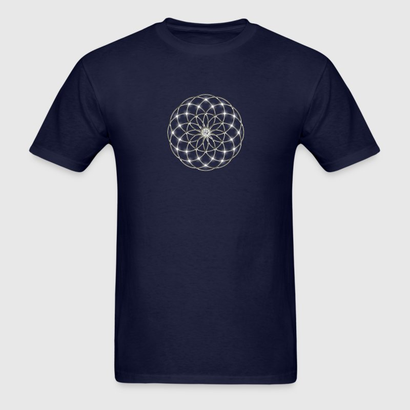 Flower of Life - Seed of Life - Tube Torus, DD silver, Energy Symbol, Sacred Geometry, T-Shirts - Men's T-Shirt