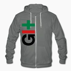 charcoal GIT version control hoodie