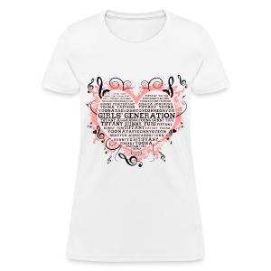 [SNSD] Hearts & Trebles - Women's T-Shirt