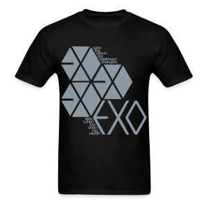 [EXO] Hexagons (Metallic Silver) - Men's T-Shirt