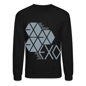 [EXO] Hexagons (Metallic Silver) - Crewneck Sweatshirt