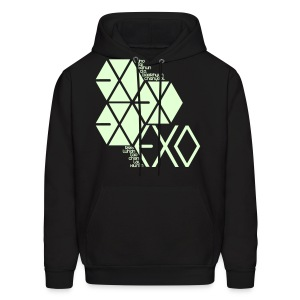 [EXO] Hexagons (Glow in the Dark) - Men's Hoodie