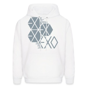 [EXO] Hexagons (Metallic Silver) - Men's Hoodie
