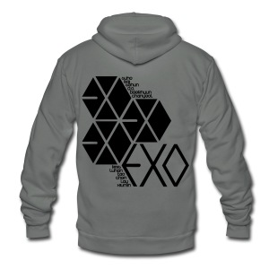 [EXO] Hexagons - Unisex Fleece Zip Hoodie by American Apparel