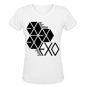 [EXO] Hexagons - Women's V-Neck T-Shirt