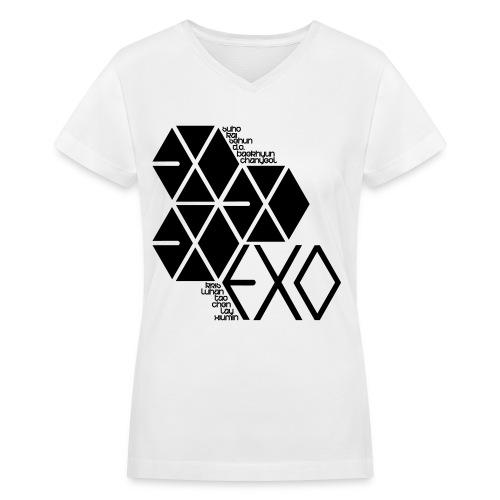 [EXO] Hexagons - Women's V-Neck T-Shirt