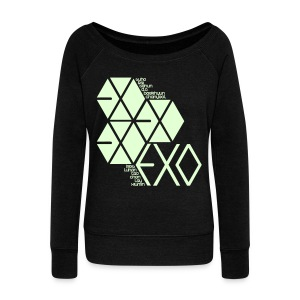 [EXO] Hexagons (Glow in the Dark) - Women's Wideneck Sweatshirt