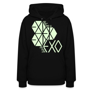 [EXO] Hexagons (Glow in the Dark) - Women's Hoodie