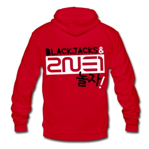 [2NE1] Blackjacks & 2NE1 - Unisex Fleece Zip Hoodie by American Apparel