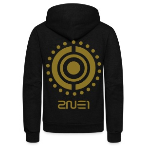 [2NE1] Tribal (Metallic Gold) - Unisex Fleece Zip Hoodie by American Apparel