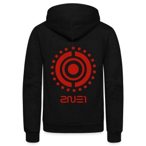 [2NE1] Tribal (Red Shimmer) - Unisex Fleece Zip Hoodie by American Apparel