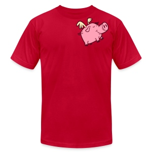 Flying Pig - Unisex Shirt - Men's T-Shirt by American Apparel