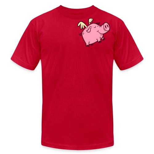 Flying Pig - Unisex Shirt - Men's Fine Jersey T-Shirt