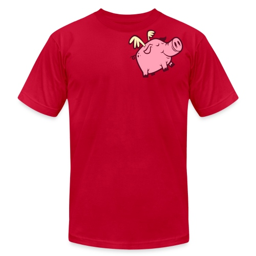 Flying Pig - Unisex Shirt - Men's  Jersey T-Shirt