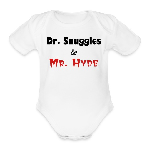 Dr. Snuggles  & Mr. Hyde 1-Piece - Organic Short Sleeve Baby Bodysuit