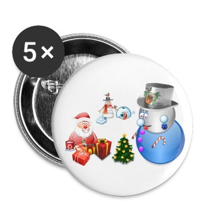 Christmas Scene 1 - Small Buttons